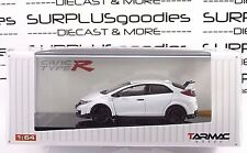 Tarmac Works 1:64 Scale Hobby64 Championship White 2016 HONDA CIVIC Type R FK2