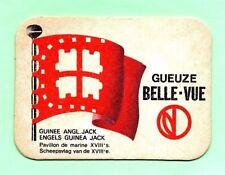 sous-bock bière GEUZE BELLE-VUE GUINÉE ANGL. JACK Pavillon de marine Lot 1599