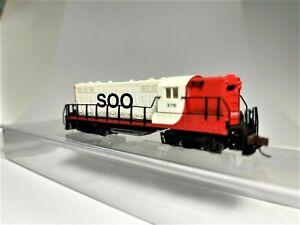 SOO LINE, EMD Diesel Locomotive, Atlas N scale GP-7, Atlas# 48033, Road #376