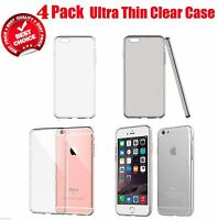 4 Pack Top Rated Clear Rubber TPU Soft Case Cover For 4.7 iPhone 6/s/Plus 5.5""