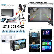"""New 7"""" Touch Screen Car Audio Stereo MP5 Player FM Bluetooth + Rear View Camera"""