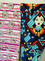NWT X2 LuLaRoe Disney Leggings Alice In wonderland Cheshire Cat Pocahontas Tween