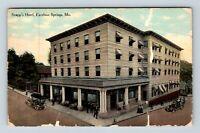 Excelsior Springs MO, Snapp's Hotel Entry, c1913, Vintage Missouri Postcard