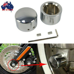 Front Axle Cap Nut Cover Bolt For Harley Sportster Softail Touring Dyna Fatboy