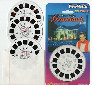 Elvis Presley's Graceland Set #2 View-Master 3 TEST Reels and Copies of Covers