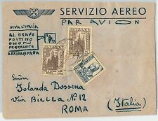 58410 -  SPAIN  - POSTAL HISTORY: COVER to ITALY - 1937  PATRIOTICO Guerra Civil