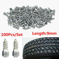 100pc 9mm Screw in tire Stud Snow Spikes Wheel Tyres Snow Chains Studs Car/Truck