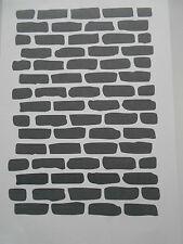 Schablone Mauer auf A4