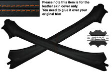 ORANGE STITCH 2X A POST PILLAR LEATHER SKIN COVERS FITS VW GOLF MK3 III CABRIO