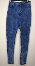 Red Fox Women's Juniors Acid Washed Skinny High Waist Jeans Size: 11