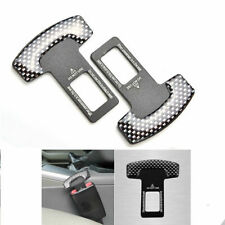 MERCEDES-BENZ Car SAFETY Seat BELT Stopper UNIVERSAL Buckle Adjustable 2X BLACK