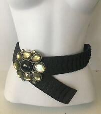 Vintage 1960/'s-1990/'s Gold//Silver Chunky Rhinestone Buckle Women Belts C1