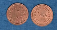 Jeton de Nécessité - Bourges 10 Centimes SUP (Cher) Coppérative Militaire de Tiv