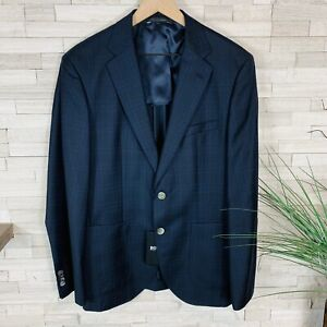 HUGO BOSS NWT Men's 38R Textured Wool Check  Blazer Sport Coat Jacket $595