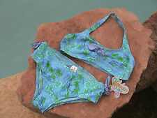 COPPER KEY BLUE TROPICAL 2 PIECE BIKINI GIRLS 16 - NEW