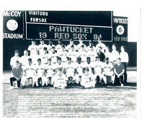 1984 PAWTUCKET RED SOX TEAM  8X10 PHOTO BASEBALL BOSTON