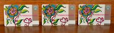2006 STARBUCKS Gift Card: Valentines Day Passion Flower...Lot of 3