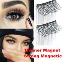 Magnetic 4PCS/1 Pair False Eyelashes Natural Eye Lashes Extension Handmade 3D
