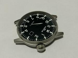 FORTIS FLIEGER GENTS WATCH, COMPLETE CASE,NEW(BLACK DIAL)