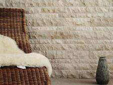 Naturstein Fliesen Wandverblender Travertin CREMA 3D Wohnrausch Muster