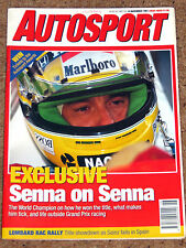 Autosport 14/11/91* SENNA on SENNA - F3000 & SALOON CAR SURVEYS - BARRICHELLO F3