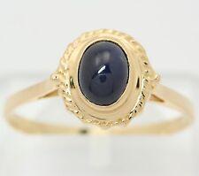♦♦ Hübscher Ring in aus 750 18kt Gelb Gold mit Saphir Safir Goldring Saphirring