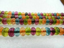 5x8mm Roundel Multicolor Gem Tourmaline Loose Beads 15inch