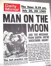 Daily Mirror Newspaper Apollo 11 Man on the Moon Astrought Star Trek Wars U C UK
