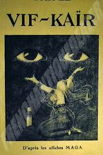 PUBLICITE BEAUTE VIF-KAÏR ART DECO 1922/1936 revue TRES PARISIEN papier calque