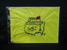 2008 Masters Flag Signed by Larry Mize w/ '87 JSA E94770 Very Rare
