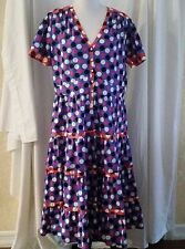 J. Peterman LC YES Dress 100% Cotton Colorful Polka-Dots Size 20 NWOT