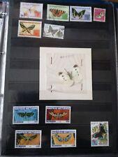 P596. Lot timbres oblitérés et neufs divers pays. Thème PAPILLONS