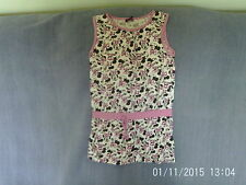 Girls 8-9 Years - White/Pink/Black Sleeveless Summer Dress - Disney Minnie Mouse