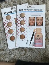 New! 2 IT Cosmetics Bye Bye Breakout Full Coverage Concealer, Sample Cards