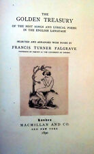 Frances Turner Palgrave, GOLDEN TREASURY OF THE BEST SONGS..., Signed Limited Ed