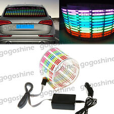 Car Music Rhythm LED Flash Light Sound Activated Equalizer Lamp 45*11CM Colorful