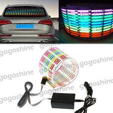 Car Music Rhythm LED Flash Light Sound Activated Equalizer Lamp 45*11CM Colorful
