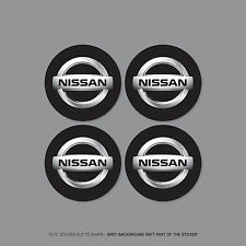 SKU2173 - 4 x Nissan Alloy Wheel Centre Cap Stickers Decals Car - 60mm