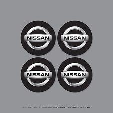 SKU2173 - 4 x Nissan Alloy Wheel Centre Cap Stickers Badges Car - 60mm