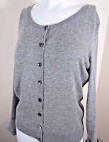 Victoria's Secret Women's L 100% Cashmere Cardigan Sweater Gray Button Front