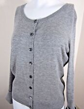 Victoria's Secret Womens Cashmere Cardigan Sweater Gray Button Front Size L
