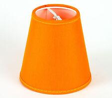 Lampenschirm zum Aufstecken  Orange Farbenfroh Modern E 14 Klemmschirm