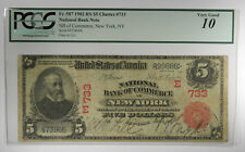 1902 $5 FRN NATIONAL RED SEAL #733 ~ NY FR 587 ~ PCGS VG10 ~ FRESH HOLDER!