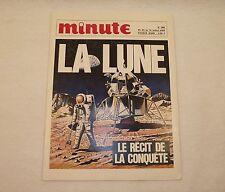 Magazine MINUTE n°380 1969 LA LUNE Le récit de la conquête Astronaute module