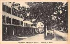 Ashfield Massachusetts birds eye view Ashfield House driveway antique pc Z20757