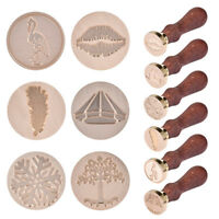 Retro Vintage DIY Sealing Wax Stamp Tree Snowflake Lips Envelope Badge Stamp Kit