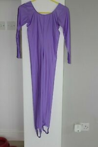 Roch Valley Nylon Long Sleeve Catsuit with Stirrups - Size 3/ UK 10 WORN ONCE