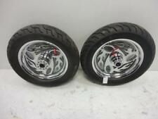 "93-99 Harley Davidson Softail 16"" 3/4"" CHROME FLAME INFERNO FRONT REAR WHEEL RIM"