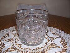 BEAUTIFUL CRYSTAL PRESSED GLASS ICE BUCKET