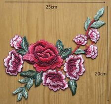 ca.25 cm  Applikation Rosen Ranke, Blume,Rose, Aufnäher,Patch,Rockabilly JA/15